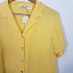 Tommy Bahama Tops - Tommy Bahama Monaco Palms Lite Camp Shirt Yellow